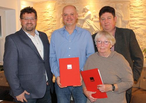 von links nach rechts: Johannes Foitzik, Dirk Lippmann , Frank Papenburg, Elfie Albert